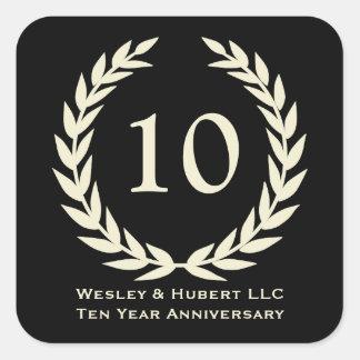 10 year milestone anniversary wreath black label