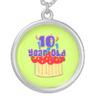 10 Year Old Birthday Silver Plated Necklace