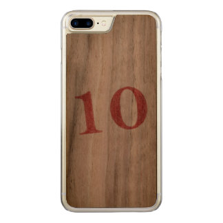 10 years anniversary carved iPhone 8 plus/7 plus case