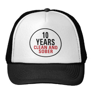10 Years Clean and Sober Cap