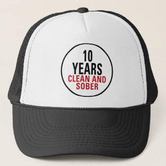 10 Years Clean and Sober Trucker Hat