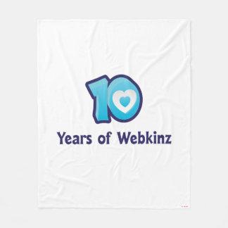 10 Years of Webkinz Logo Fleece Blanket