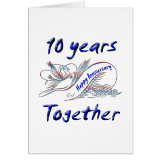 10 Years Together Card