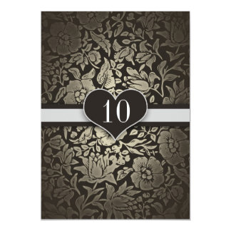 10 years wedding anniversary damask invitations