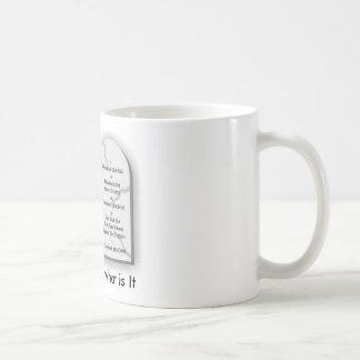 10commandmentst, God's Law is what is It Basic White Mug