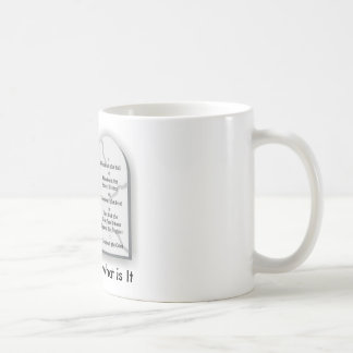 10commandmentst, God's Law is what is It Coffee Mugs