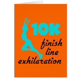 10K Aqua Finish Line Greeting Cards