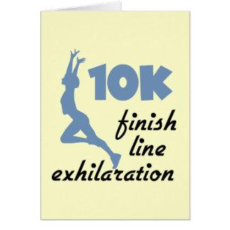 10K Blue Finish Line Card