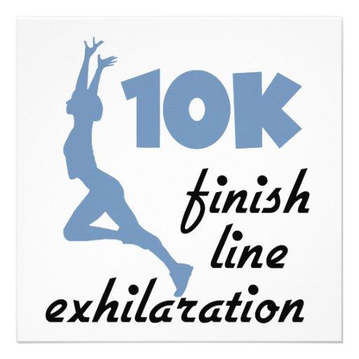 10K Blue Finish Line Custom Announcement