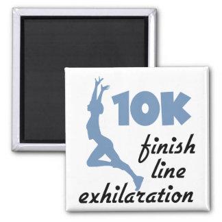 10K Blue Finish Line Refrigerator Magnets
