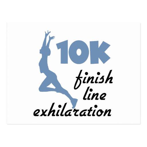 10K Blue Finish Line Postcard