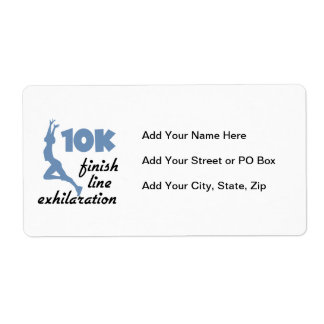 10K Blue Finish Line Shipping Label