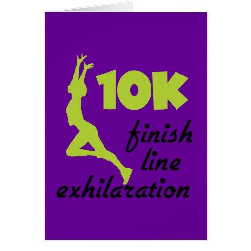 10K Green Finish Line Card