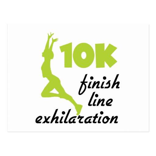 10K Green Finish Line Post Card