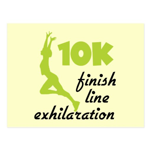 10K Green Finish Line Post Cards