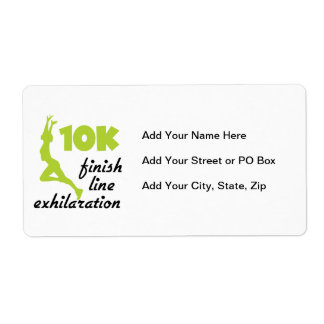 10K Green Finish Line Shipping Label