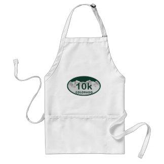 10k license oval adult apron