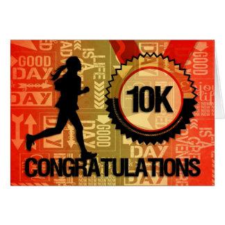 10K Run Congratulations Sports Theme Greeting Card