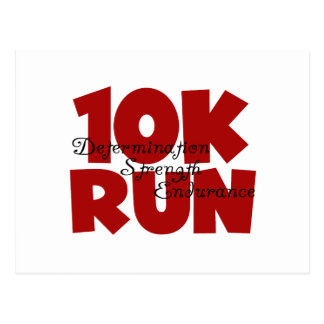 10K Run Red Postcard