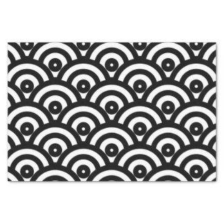 10lb Tissue Paper, White & black japanese wave Tissue Paper