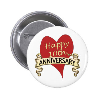 10th. Anniversary 6 Cm Round Badge