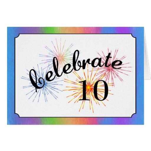 10th Anniversary Celebration Greeting Cards