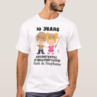 10th Anniversary Custom Gift For Him T-Shirt