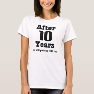 10th Anniversary (Funny) T-Shirt
