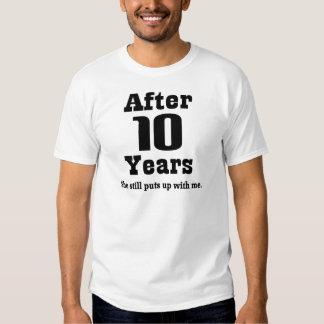 10th Anniversary (Funny) Tee Shirt