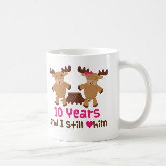10th Anniversary Gift For Her Basic White Mug