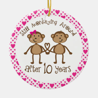 10th Anniversary Gift Ornament