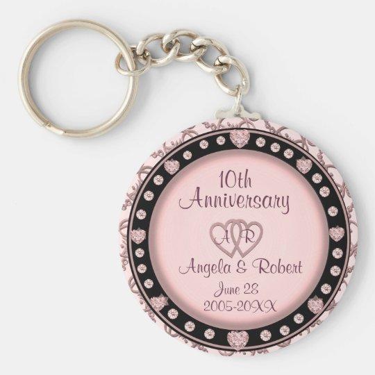 10th Anniversary Silver Keychain