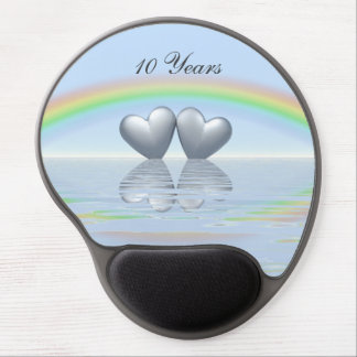 10th Anniversary Tin Hearts Gel Mouse Mat