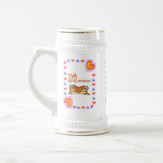 10th Anniversary Wedding Anniversary Beer Stein