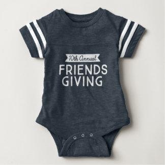 """10th Annual Friendsgiving"" Baby Sport Gear Baby Bodysuit"