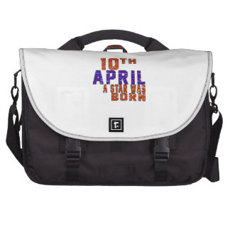 10th April a star was born Laptop Bags