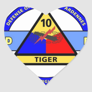 "10TH ARMORED DIVISION""TERRIFY & DESTROY""BLUE HEART STICKER"
