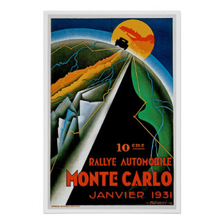 10th Automobile Rally de Monte Carlo Poster
