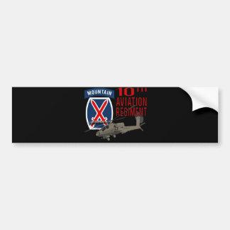 10th Aviation Regiment - Apache Car Bumper Sticker