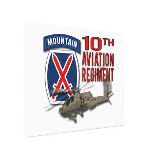 10th Aviation Regiment - Apache Stretched Canvas Print