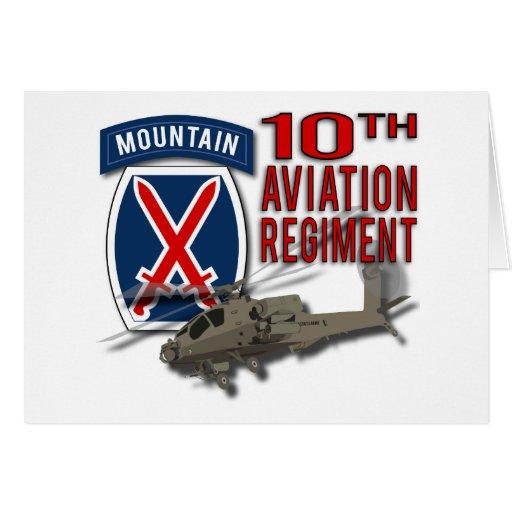 10th Aviation Regiment - Apache Greeting Card