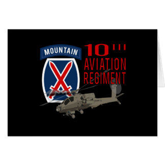 10th Aviation Regiment - Apache Greeting Card