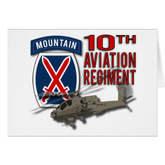 10th Aviation Regiment - Apache Greeting Cards