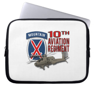 10th Aviation Regiment - Apache Laptop Computer Sleeves