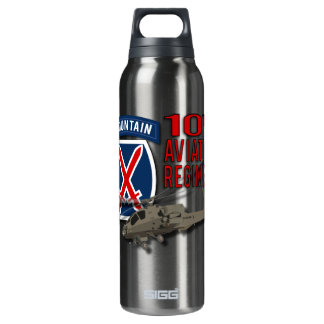 10th Aviation Regiment - Apache 16 Oz Insulated SIGG Thermos Water Bottle