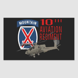 10th Aviation Regiment - Apache Rectangle Stickers
