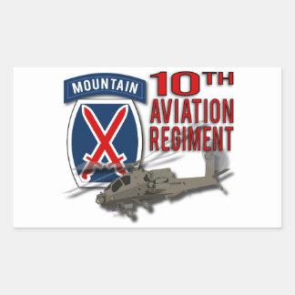 10th Aviation Regiment - Apache Rectangle Stickers