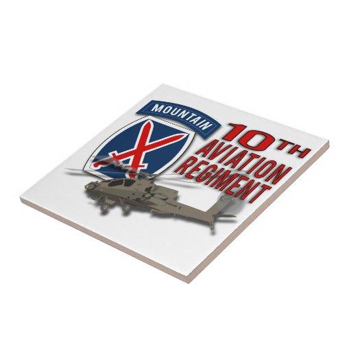 10th Aviation Regiment - Apache Ceramic Tiles