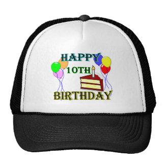 10th Birthday Cake Birthday Design Mesh Hats