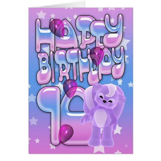 10th Birthday Card, Happy Birthday Card